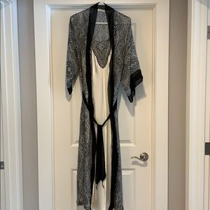 Full length nightgown robe 2 piece set